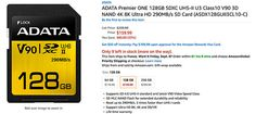 New Adata 290 MB/s SD card is a $70 cheaper Sony SF-G alternative #photography