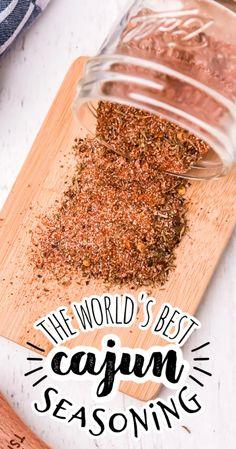 Dry Rub Recipes, Cajun Recipes, Cooking Recipes, Cajun Seasoning Recipe, Seasoning Mixes, Homemade Spices, Homemade Seasonings, Spice Blends, Spice Mixes