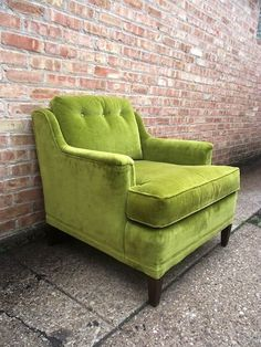 So love this chair & Vintage Olive Green Chair | For the Home | Pinterest | Vintage Room ...