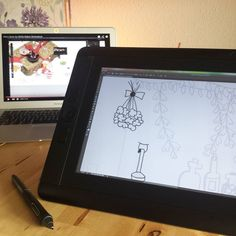 "Drawing my Doodle with the Cintiq in Photoshop - with the very helpful YouTube-Video @byjohannafritz (""How I draw my Mollie Makes Illustrations). Thank you so much Johanna!  by lockerflocke"