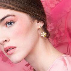 🌿🌸 Why hello earrings of our blossom dreams. Cherry Blossom Jewelry, Statement Earrings, Pearl Earrings, Fashion Jewellery, True Beauty, Fashion Photography, Enamel, Dreams, Celebrities
