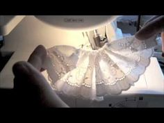 Gathering on a Brother 1034D Serger - YouTube