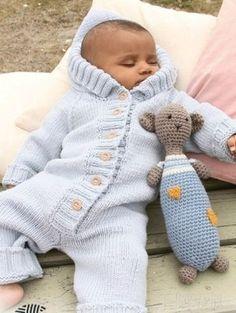 Комбинезон с капюшоном от Drops Design   Вязание для детей   Вязание спицами и крючком. Схемы вязания.