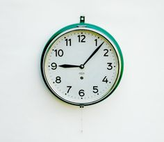 Industrial Railway Station Wall Clock / Mechanical Clock / 30's 40's Europe Factory Clock by Tulip