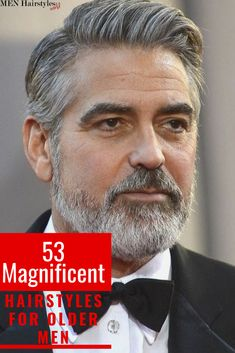 Growing old doesn't mean you have to quit experimenting or changing your hairstyle and aspect. After all, those elegant silver highlights shouldn't go to waste! Combover Hairstyles, Older Mens Hairstyles, Side Part Hairstyles, Easy Hairstyles, Grey Hair Men, Gray Hair, Grey Hair Looks, Side Part Haircut, Silver Highlights