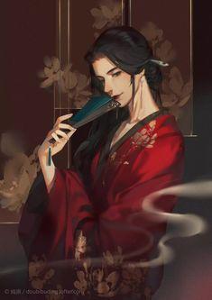 Anime Art Girl, Anime Guys, Fantasy Art Men, China Art, Anime Angel, Boy Art, Anime Style, Fantasy Characters, Traditional Art