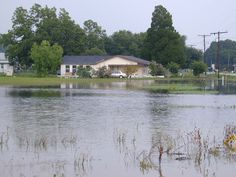 Baton Rouge, LA, June 20, 2001-- A flooded home in Chackbay, Louisiana. This was the last area for the flood water to recede following tropical storm Allison. FEMA News Photo by Butch DuCote/FEMA News Photo. Today In History: Tropical Storm Allison caused havoc  (2001)