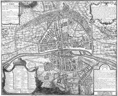 Paris, c. with Phillippe Augustus' city wall. Rue Saint Honoré, Ile Saint Louis, Vintage Maps, Antique Maps, Paris Map, Paris France, Plan Paris, Paris Metro, Paris Ville