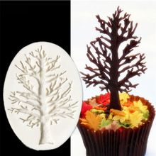 Tree Shape Silicone Mold For Cupcake Fondant Cake Decorating Tools Chocolate Candy Jelly Gumpaste Moulds Sugar Craft Decorations(China)