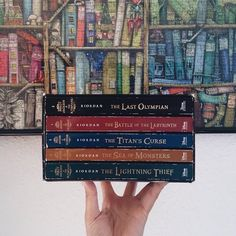 The lightning thief Book Stairs, The Titan's Curse, The Last Olympian, Sea Of Monsters, Camp Jupiter, The Lightning Thief, Book Spine, Trials Of Apollo, Uncle Rick