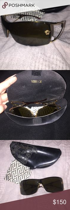 15dfa52b1244 Versace sunglasses Black authentic Versace sunglasses. Come with all ...