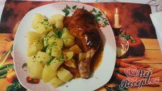 Papů z jednoho pekáčku Potato Salad, Potatoes, Beef, Ethnic Recipes, Food, Meat, Potato, Essen, Meals