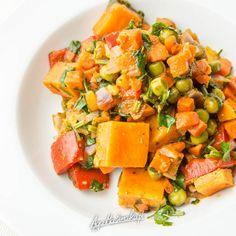 szybkie i zdrowe dania jednogarnkowe bez glutenu potrawka warzywna z marchewką i batatem