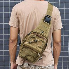 AGPtEK Outdoor Tactical Shoulder Backpack Military Nylon can handle heavy loading. Compact size accommodates your everyday gear. Ergonomic design can be slung crossbody Wear it in front or back depending on activity. Oakley Backpack, Shoulder Backpack, Survival Knife, Camping, Sling Backpack, Compact, Military, Backpacks, Explorer