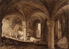 The Crypt of Kirkstall Abbey Joseph Mallord William Turner - circa 1806-1807