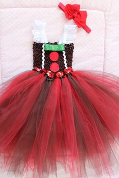 Gingerbread baby tutu dress this holiday size includes 6 18 months