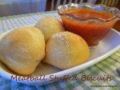 Meatball Stuffed Biscuits from Joyful Homemaking