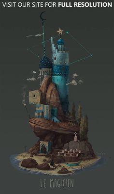Dive into the Art of Pierre Antoine Moelo AKA Péah, a Concept Artist based in Montréal, Canada. Pierre Antoine is urrently working as a Visual Development 3d Fantasy, Fantasy Kunst, Fantasy Landscape, Fantasy World, Art And Illustration, Illustrations, Bg Design, Design Poster, Tumblr Shop