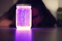 kids DIY- Glow Stick Lanterns- great idea for 4th of July!
