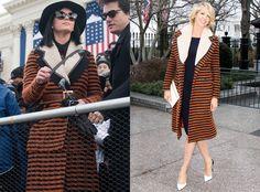 Katy Perry and Jenna Elfman: Fashion Twinsies in Rodarte Striped Coat   Katy Perry, Jenna Elfman