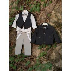 Χειμωνιάτικο βαπτιστικό κουστουμάκι Dolce Bambini ολοκληρωμένο σετ με παντελόνι, πουκάμισο, γιλέκο, ξύλινο παπιγιόν, καπελάκι και μπουφάν, Χειμερινό κουστουμάκι βάπτισης τιμές-προσφορά, Χειμερινά βαπτιστικά ρούχα αγόρι τιμές-οικονομικά, Επώνυμο Οικονομικό Coat, Jackets, Style, Fashion, Down Jackets, Swag, Moda, Sewing Coat, Fashion Styles