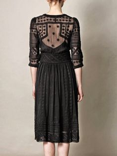 Isabel Marant - Black Ludivine Embroidered Silk Chiffon Dress