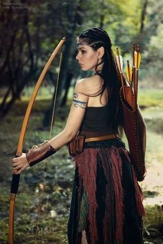 Lady warrior with arrows, pagan, witch