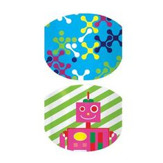 "Jamberry Juniors wraps are sized to fit girls up to at least 8 years old. Each sheet of nails has two complementary designs! Click picture to purchase ""Robots"" today! www.traceycurtis.jamberrynails.net #RobotsJN #JamberryJunior #traceycurtis"
