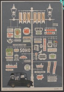 City Series Poster by Jim Datz - London City Poster, London Illustration, Type Illustration, Sketch Note, London Calling, London Travel, Oh The Places You'll Go, Travel Posters, Travel Maps