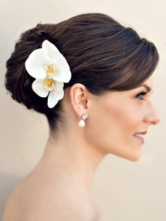 Hair Comes the Bride - Set of Two Orchid Hair Flowers ~ Eva, $52.00 (http://www.haircomesthebride.com/set-of-two-orchid-hair-flowers-eva/)