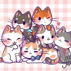 Draw Cats Went to a Cat cafe in Sydney.all the cats hate me lol (They must sense I'm a dog person) haha . Cute Cat Drawing, Cute Kawaii Drawings, Cute Animal Drawings, Kitty Drawing, Cute Kawaii Animals, Kawaii Cat, Chibi Cat, Cute Chibi, Gato Anime