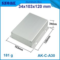1 piece free shipping aluminium housing for diy electronic junction case device 34x103x120mm