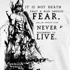 Do not give into fear