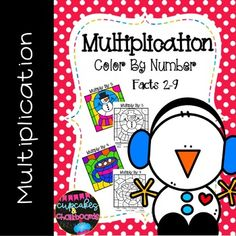 Winter Multiplication Color By Number - to by Cupcakes and Chalkboards Science Resources, Math Activities, Teaching Resources, Teaching Ideas, Classroom Resources, Math Worksheets, Science Projects, 3rd Grade Classroom, 3rd Grade Math