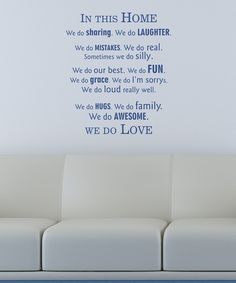 Belvedere Designs Navy 'In This Home' Wall Decal