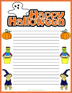 Stationary Borders | free happy Halloween greeting cards, Halloween party decorations,free ...
