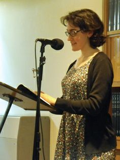 Katie Lumsden reading at Brittle Star Launch, Barbican Library Nov 2013