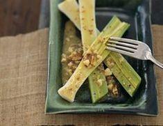 ricette vegetariane - porri alle noci