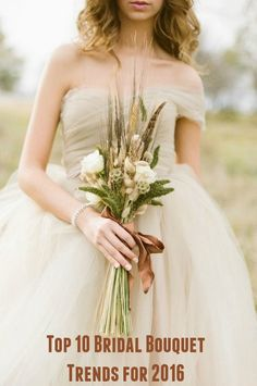 Top 10 Bridal Bouquet Trends for 2016.....Great ideas for Bridal Bouquet designs... #wedding