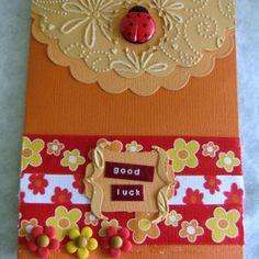 Good Luck Ladybug Card | AllFreePaperCrafts.com