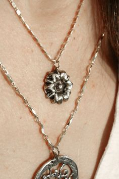 Sterling silver daisy necklace - nature botanical jewelry - gift for her