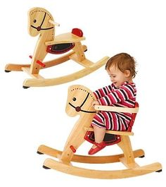 Grow-With-Me Wooden Rocking Horse with Removeable Safety Surround on the Seat by Hearthsong. $79.98. Made from eco-friendly rubberwood. Rubber stoppers prevent riders from tipping over. Natural finish with red and black detailing. For ages 12 months and up. Little rockers can enjoy rollicking rides. Little rockers can enjoy rollicking rides on this handsome steed. It features a safety surround on the seat which can easily be removed when your child grows. Rubber stoppers on t...