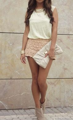 I looooove this but the skirt's a little too short...