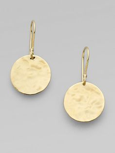 Ippolita -love 'em!  18K Gold Hammered Circle Earrings
