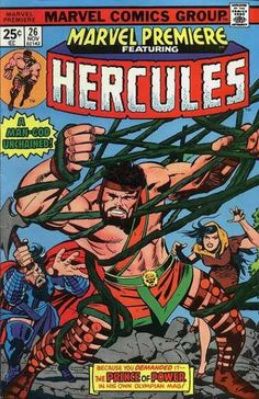 Marvel Premiere #26 featuring Hercules. Art by Jack Kirby.