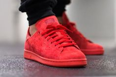 Adidas Stan Smith Suede Triple Red (rouge)