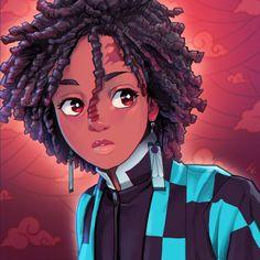 Black Cartoon Characters, Black Girl Cartoon, Black Love Art, Black Girl Art, Black Girl Aesthetic, Aesthetic Anime, Boy Art, Art Girl, Anime Negra