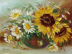 (+1) Нарисованные цветы - это краски моей души