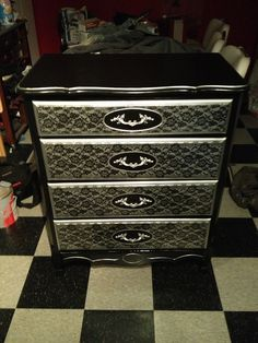 Bought an old dresser at the thrift shop and re-finished it. I love the way it turned out! :)