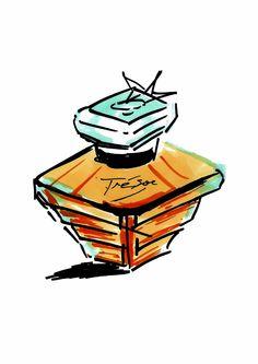 Ecole Com'Art - Arts appliqués Design Graphique - Rough Lancome parfum - http://www.comart-design.com/fr/formations/manaa-prepa - #design #draw #graphicstudent #drawing #graphicdesigner #lancome